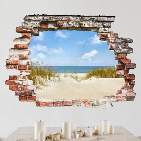 Sticker mural 3D - Beach On The North Sea - Landscape Format 3:4