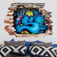 Sticker mural 3D - Colours Of Graffiti - Landscape Format 3:4