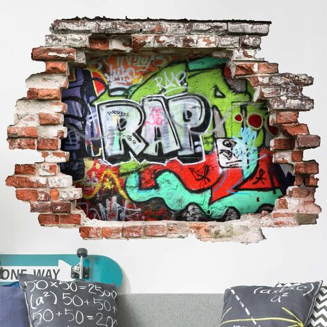 Sticker mural 3D - Graffiti - Landscape Format 3:4