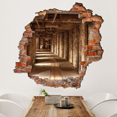 Sticker mural 3D - Old Gold Mine - Square Format 1:1
