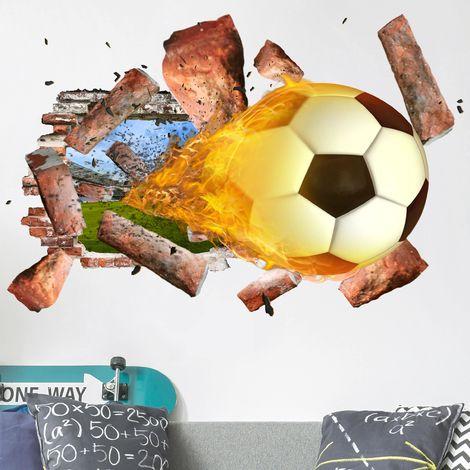 Sticker mural 3D - Soccer - Landscape Format 2:3