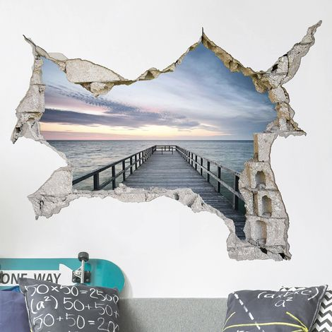 Sticker mural 3D - Steg Promenade - Landscape Format 3:4