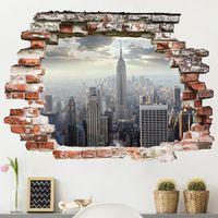 Sticker mural 3D - Sunrise In New York - Landscape Format 3:4