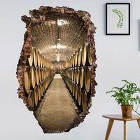 Sticker mural 3D - Wine Cellar - Portrait Format 3:2