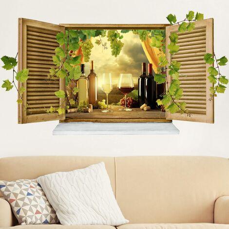 Sticker mural 3D - Wine Still Life - Landscape Format 1:2