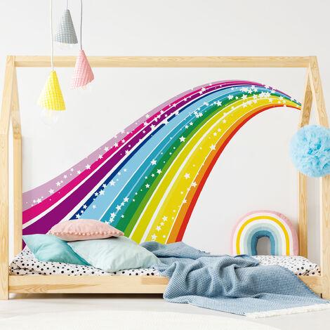 Sticker mural arc en ciel - Dimension: 68cm x 115cm