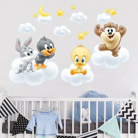 Sticker mural Baby Looney Tunes on clouds