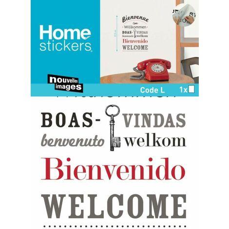 Sticker mural bienvenue en plusieurs langues