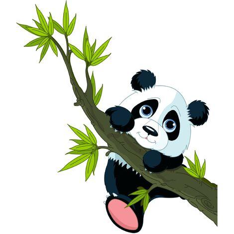 Sticker mural Climbing Panda