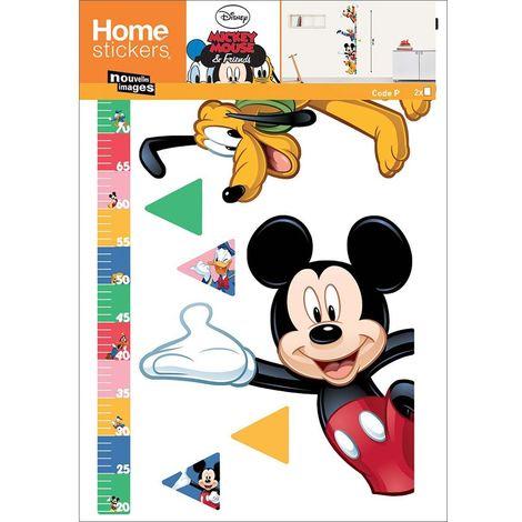 Sticker mural Disney toise Mickey et Dingo - Multicolore