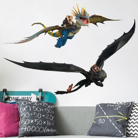 Sticker mural Dragons Dragon Duo Dimension: 30cm x 45cm