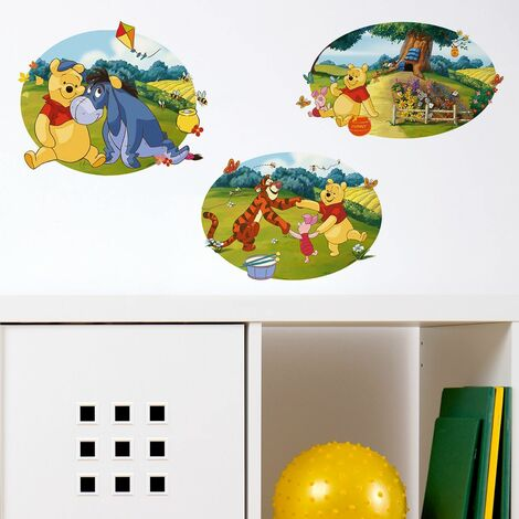 sticker mural enfants Décoration Sticker Disney Winnie l'ourson et ses amis
