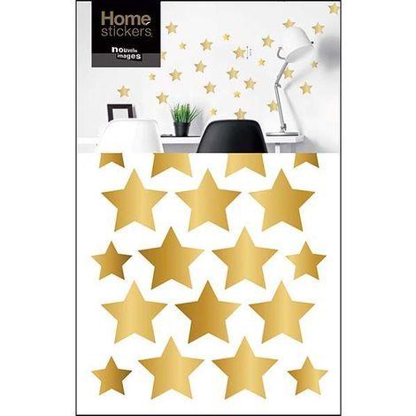 Sticker mural étoiles dorées - Doré