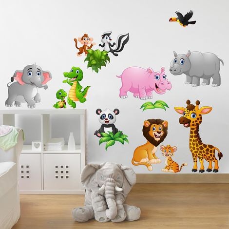 Sticker mural Jungle Animals