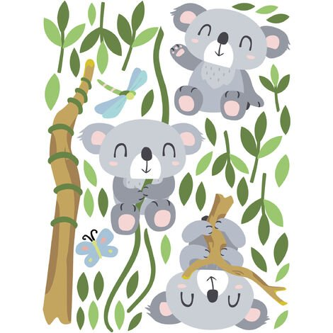 Sticker mural Koala set