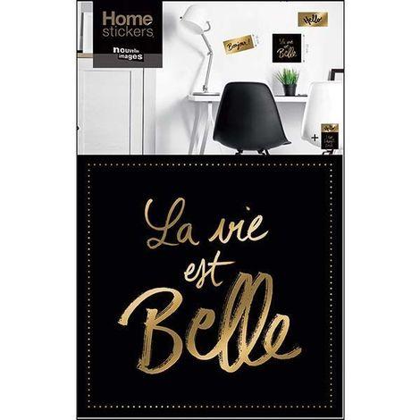 Sticker mural la vie belle dorée - Doré