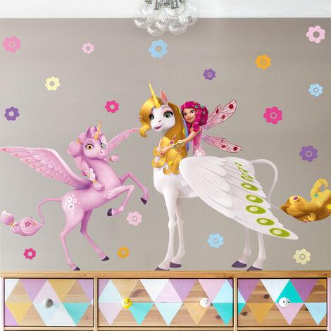 sticker mural mia and me - mia, onchao and kyara dimension: 210cm x 140cm - 0-0-729426