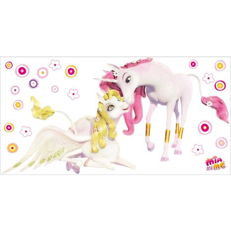 Sticker mural Mia and Me - Unicorns Onchao and Lyria
