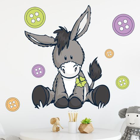 Sticker mural NICI Donkeys & buttons