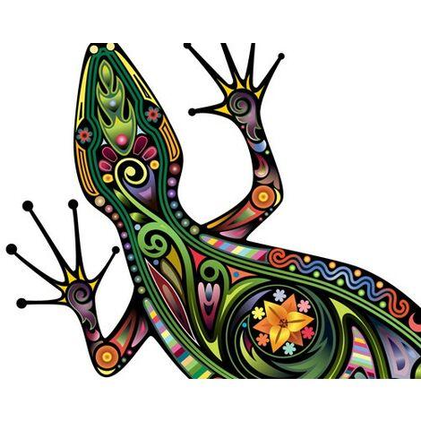 Sticker mural no.652 Gecko Pattern