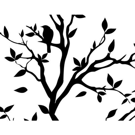 Sticker mural no.YK14 Chirping Tree