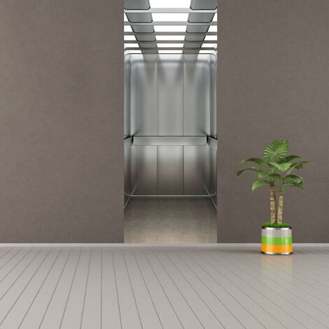 sticker mural Porte décoration autocollant Ascenseur