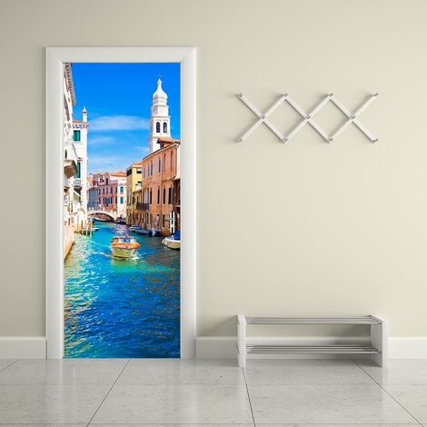 sticker mural Porte décoration autocollant Venise