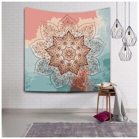 Sticker Mural Tapis de plage de tapisserie d'impression de style bohème à la maison de de plage, taille: 200 * 150cm