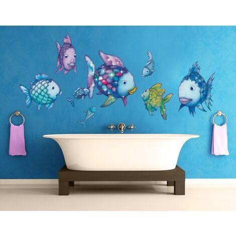 Sticker mural The Rainbow Fish - Underwater Paradise Sticker Set