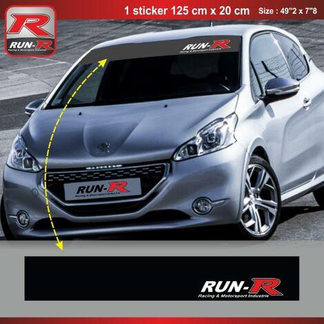 Sticker pare-soleil Run-R 00BM Racing 125x20cm