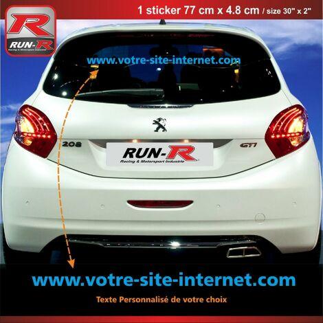 Sticker personnalise compatible avec vitre arriere de PEUGEOT 208 207 206 - Couleur Bleu