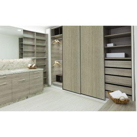 Sticker pour porte de dressing Home - L. 67 x l. 250 cm - Chêne clair - Marron