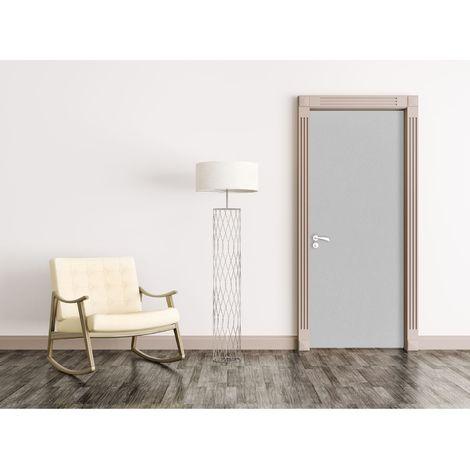 Sticker pour porte d'intérieur Home - L. 83 x l. 204 cm - Gris - Gris