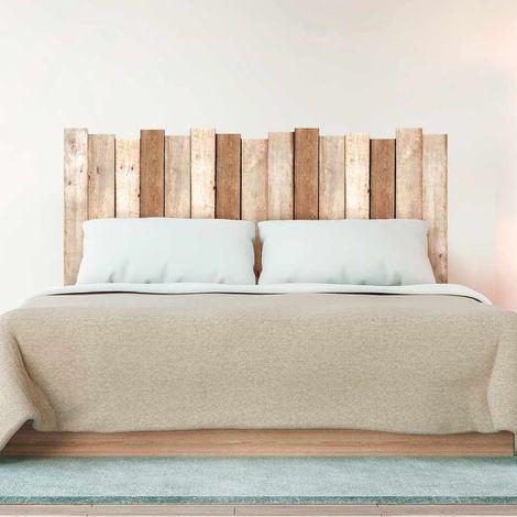 Sticker tête de lit Planche en bois - 70 x 160 cm - Marron - Marron