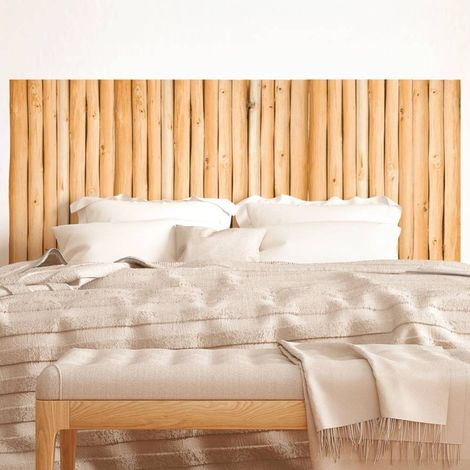 Sticker tête de lit Rondins en bois - 70 x 160 cm - Marron - Marron