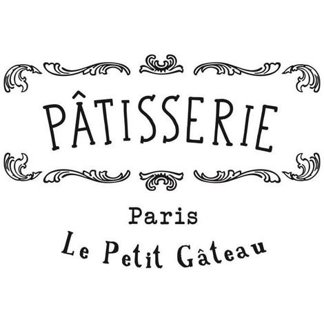 Stickers adhésif mural Patisserie Paris - 44x30cm