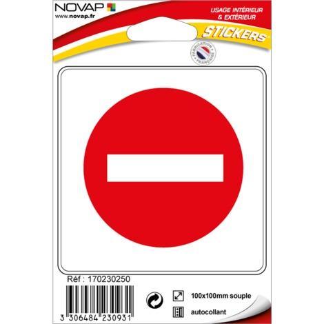 Stickers adhésif - Sens interdit - 4230931