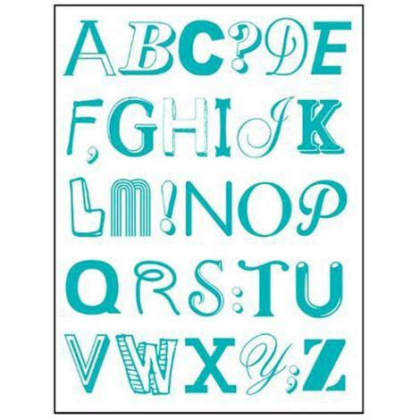 Stickers Alphabet 50x70cm Bleu