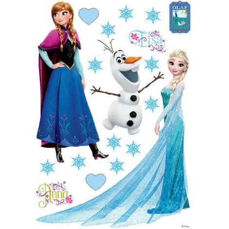 Stickers Anna Elsa & Olaf La Reine des Neiges Disney