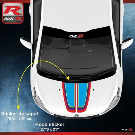 Stickers capot 00AS PEUGEOT Sport pour 208 207 Run-R Stickers