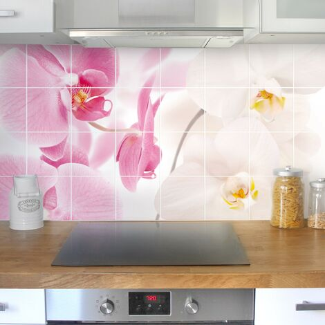 Stickers carrelage Delicate Orchids