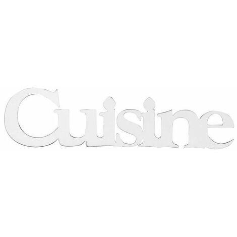 Stickers en miroir plaque de cuisine - 32 x 8 cm - Acrylique