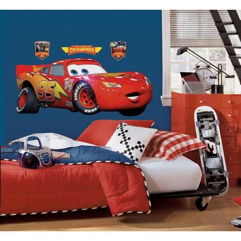Stickers Géant Cars de Disney - modèle Flash Mc Queen