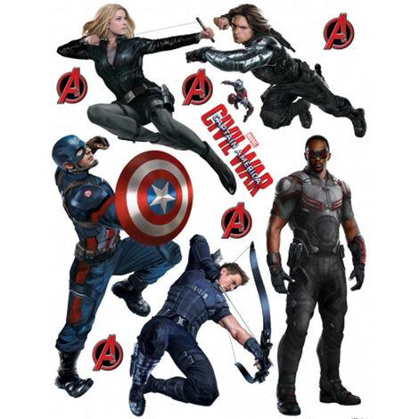 Stickers géant Civil War Captain America 2 Marvel