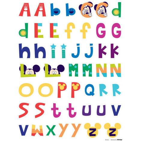 Stickers géant Mickey Mouse Alphabet Disney
