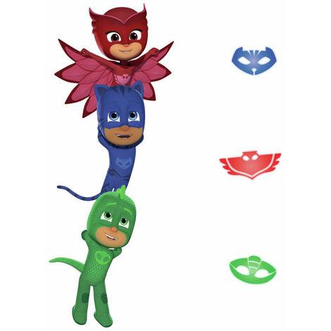 Stickers géant Pyjamasques avec Yoyo, Bibou et Gluglu