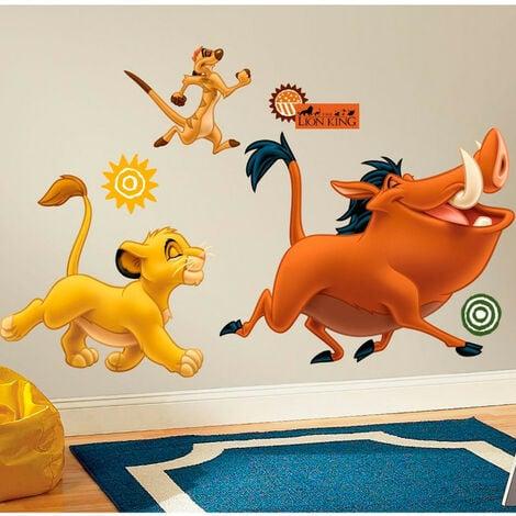 Stickers géant Simba et Timon & Pumba Roi Lion Disney