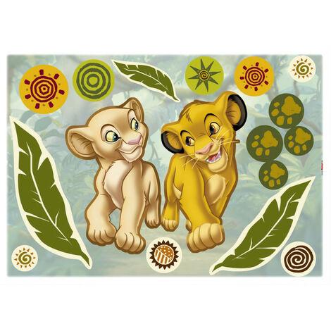 Stickers géant Simba & Nala Le Roi Lion Disney