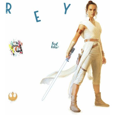Stickers Géant Star Wars - modèle Rey L'Ascension de Skywalker
