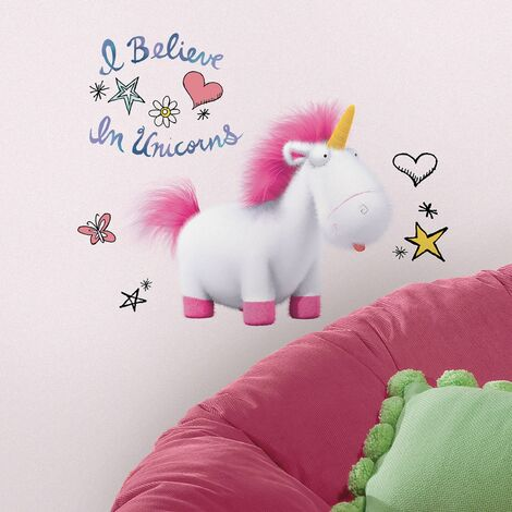Stickers Les Minions - modèle Je crois aux licornes